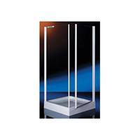 Royal hoekinstap met vaste zijwand 6 mm glas 87/90x185 cm, chroom