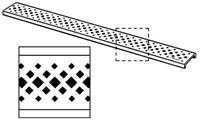 Visign designrooster er1 75 cm. ruitv.gaatjes v/68075 rvs