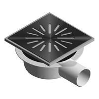 Aquaberg vloerput met 1 aansluiting uitwendige buisdiameter 50mm (hxb) 78x150mm vloerput ABS