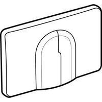 WISA Dual Flux bedieningspaneel closet/urinoir kunststof pergamon (lxbxh) 198x326x18mm