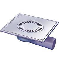 Aquaberg Blücher Compact vloerput met 1 aansluiting uitwendige buisdiameter 50mm (hxb) 75x197mm vloerput roestvaststaal (RVS)