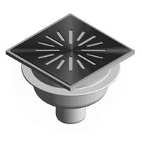 Aquaberg vloerput met 1 aansluiting uitwendige buisdiameter 50mm (hxb) 81x150mm vloerput ABS