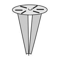 KS Verlichting Montagespie Rig 2 gegalvaniseerd metaal 5819