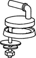 Uni scharnierset voor toiletzitting, RVS