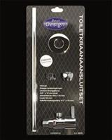 """Best Design Toiletkraan-Aansluitset Universeel 1/2"""" / 3/8"""" x 10 mm"""