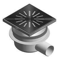 Aquaberg vloerput met 1 aansluiting uitwendige buisdiameter 50mm (hxb) 110x150mm vloerput ABS