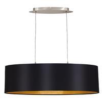 Eglo Verlichting Goud-zwarte stoffen hanglamp Lecio