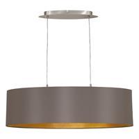 Eglo Verlichting Ovalen textiel hanglamp Capri, 78 cm lang