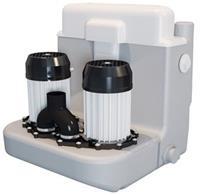 Sanibroyeur Sanicom vuilwaterpomp Sanicom 2 Expert-line v. een projectmatige-huishoudelijk gebruik 467x480x480mm inlaatzijde 2xDN40+1xDN40/50 wit