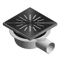 Aquaberg vloerput met 1 aansluiting uitwendige buisdiameter 50mm (hxb) 74x150mm vloerput ABS