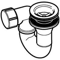 Geberit douchebakafvoer compleet voor douchebak met gat 52mm zonder afdekrozet chroom