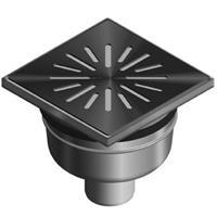 Aquaberg vloerput met 1 aansluiting uitwendige buisdiameter 50mm (hxb) 82x150mm vloerput roestvaststaal (RVS)
