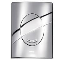 WISA XS Argos bedieningspaneel closet/urinoir kunststof chroom. glans (lxbxh) 160x160x10mm