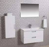 Wiesbaden Tempo meubelset 80 + keramische wastafel + spiegel +...
