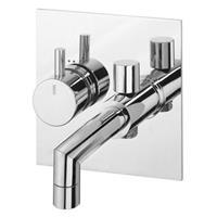 Jado Concealed 1-greeps bath mixer Geometry Chroom F1336AA