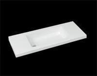Best Design Wastafel SLIM 100 cm (Ondiep) 35 cm Zonder-Kraangat...