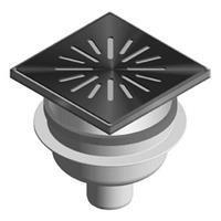 Aquaberg vloerput met 1 aansluiting uitwendige buisdiameter 50mm (hxb) 85x150mm vloerput ABS
