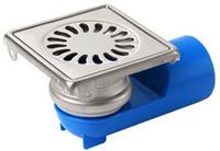 Aquaberg Blücher Compact vloerput met 1 aansluiting uitwendige buisdiameter 40mm (hxb) 80x97mm vloerput roestvaststaal (RVS)