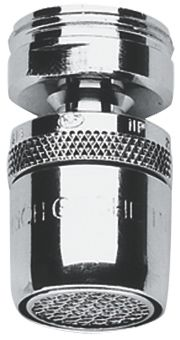"grohe mousseur chroom verstelbare sproeihoek M24x1"" . bu.dr."