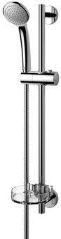 Idealstandard Idealrain glijstangcombinatie chroom. glans lengte glijstang 600mm handdouche kunststof