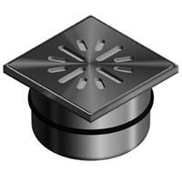 Aquaberg vloerput met 1 aansluiting uitwendige buisdiameter 50mm (hxb) 63x100mm vloerput roestvaststaal (RVS)