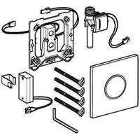 Geberit Sigma10 bedieningspaneel closet/urinoir kunststof wit/glans chroom/wit (lxbxh) 130x130x11mm