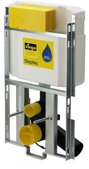 Viega Steptec / swift 84613 inbouwreservoir met frame aansluiting leidingwater binnendraad geschikt voor elektrische bediening