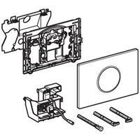 Geberit Sigma10 bedieningspaneel touch free/handmatig 230 V netspanning voor 12 cm inbouwreservoir, wit/matchroom