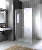 Kermi Walk-In Wall XC WIO 100x200 cm, zilver glans-helder glas
