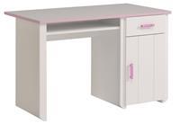 Parisot Bureau Kiki - wit/roze - 121x77x65 cm