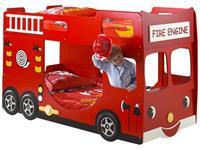 Vipack stapelbed Brandweer - rood - 141x97x227 cm
