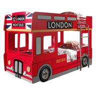 Vipack stapelbed London Bus - incl. LED - 132x99,6x215 cm