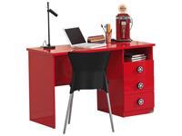 Vipack bureau Monza - rood - 60x120x74