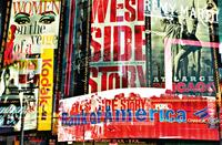 Times four-sided Neon Stories Fotobehang 175x115cm