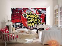 No More Grey Walls Fotobehang 366x254cm