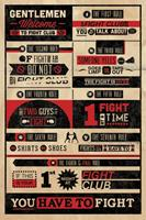 Fight Club - Rules Infographic