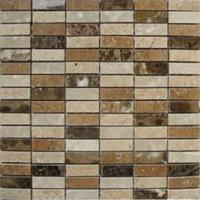 Alfa Mosaico Mozaïek tegel Madrid mix bruin 30,5x30,5cm