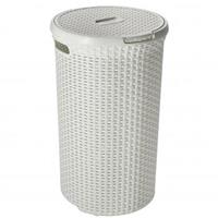 Curver wasbox Style rond wit afm. rond 40cm hoogte 61 cm