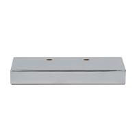 Meubelpootjes Chromen rechthoek meubelpoot 3,2 cm