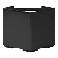 Meubelpootjes Zwarte vierkanten stalen meubelpoot hoogte 10 cm