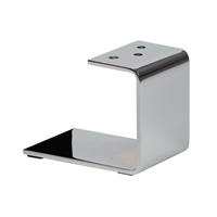 Meubelpootjes Chromen u-profiel meubelpoot 12 cm