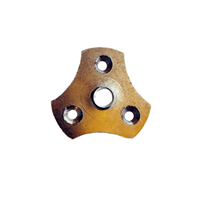 Meubelpootjes Driehoekige bevestigingsplaat M10 (zakje 4 stuks)