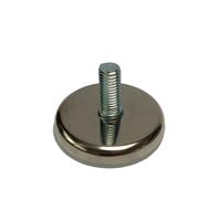 Meubelpootjes Chromen stelvoet rond diameter 5,5 cm (M10)