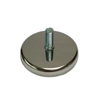 Meubelpootjes Chromen stelvoet rond diameter 7 cm (M10)