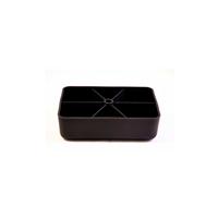 Meubelpootjes Zwarte plastic rechthoekige poot 4,5 cm