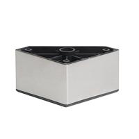 Meubelpootjes RVS / INOX plastic vierkanten meubelpoot 5 cm