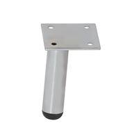 Meubelpootjes Chromen ronde meubelpoot 9,5 cm (links)