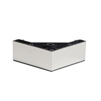 Meubelpootjes RVS plastic vierkanten meubelpoot 5 cm