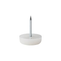 Meubelpootjes Meubelglijder kunststof wit diameter 1,8 cm (zakje 20 stuks)