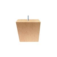 Meubelpootjes Houten schuine meubelpoot 8 cm (M10)